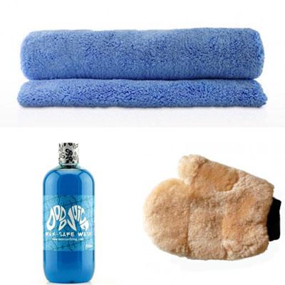 dodo juice wash kit   basics of bling shampoo wax safe