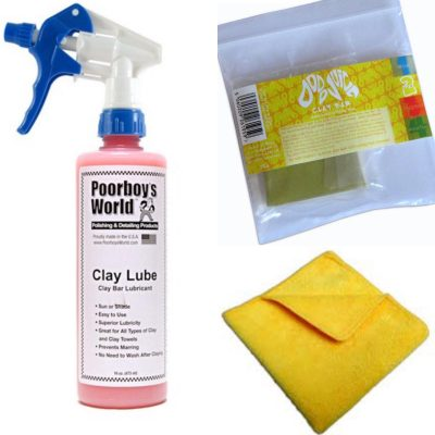 Poorboy's World Clay Lube and Dodo Juice Clay Bar Kit